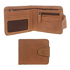Conkca London - Light chestnut 'Clark' vintage leather wallet