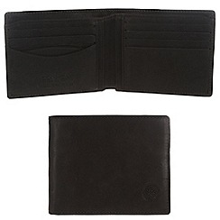 Conkca London - Vintage styled black 'Nevis' leather wallet