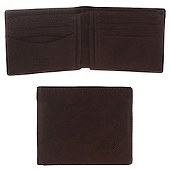 Conkca London - Vintage styled brown 'Nevis' leather wallet
