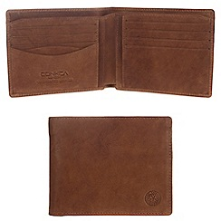 Conkca London - Vintage styled tan 'Nevis' leather wallet