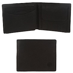 Conkca London - Vintage styled black 'Pike' leather wallet