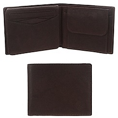 Conkca London - Vintage styled brown 'Pike' leather wallet