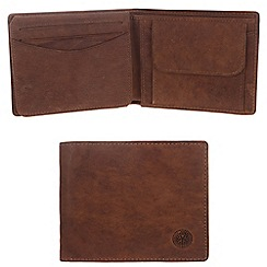Conkca London - Vintage styled tan 'Pike' leather wallet