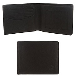 Conkca London - Vintage styled black 'Merrick' leather wallet