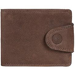 Conkca London - Cognac 'Jenson' RFID leather wallet