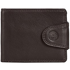 Conkca London - Dark brown 'Jenson' RFID leather wallet