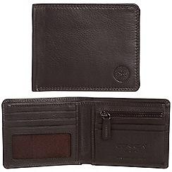 Conkca London - Dark brown 'Alfie' RFID leather wallet