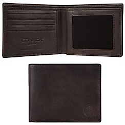 Conkca London - Vintage black 'Archie' waxed leather 12-card RFID wallet