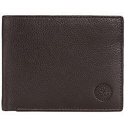 Conkca London - Dark brown 'Archie' RFID leather wallet