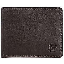 Conkca London - Dark brown 'Brevin' RFID leather wallet
