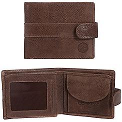 Conkca London - Cognac 'Ellington' RFID leather wallet
