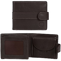 Conkca London - Dark brown 'Ellington' RFID leather wallet