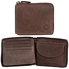 Conkca London - Cognac 'Greyson' RFID leather wallet