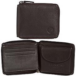 Conkca London - Dark brown 'Greyson' RFID leather wallet