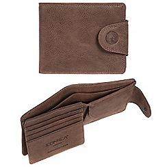 Conkca London - Cognac 'Klaus' RFID leather wallet