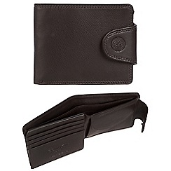 Conkca London - Dark brown 'Klaus' RFID leather wallet