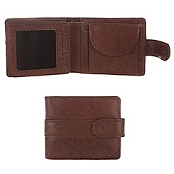 Conkca London - Conker brown 'Oscar' handcrafted leather wallet
