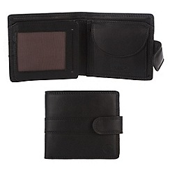 Conkca London - Black 'Oscar' veg-tanned leather wallet