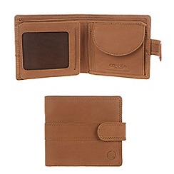 Conkca London - Chestnut 'Oscar' veg-tanned leather wallet