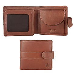 Conkca London - Cognac 'Oscar' veg-tanned leather wallet