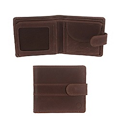 Conkca London - Conker brown 'Oscar' vintage leather wallet in gift box