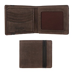 Conkca London - Hunter brown 'Rufus' vintage leather wallet in gift box