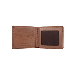 Conkca London - Chestnut 'Rufus' veg-tanned leather bi-fold wallet
