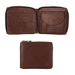 Conkca London - Conker brown 'Chief' handcrafted leather wallet