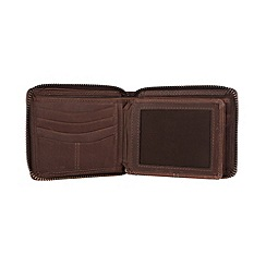 Conkca London - Conker brown 'Chief' vintage leather wallet in oak gift box
