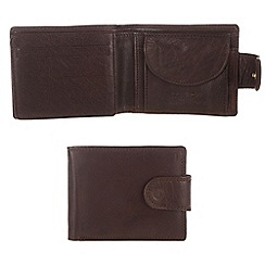 Conkca London - Darkest brown 'Art' handcrafted leather wallet