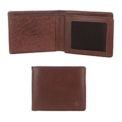 Conkca London - Conker brown 'Benedict' handcrafted leather wallet