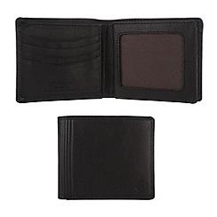 Conkca London - Oxford black 'Benedict' vintage leather wallet in gift box
