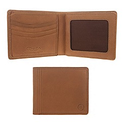 Conkca London - Light chestnut 'Benedict' vintage leather wallet