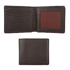 Conkca London - Dark brown 'Benedict' veg-tanned leather wallet