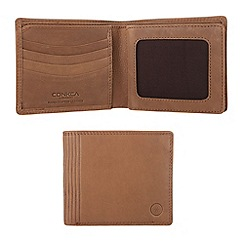 Conkca London - Oak 'Benedict' veg-tanned leather wallet
