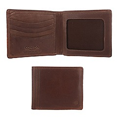 Conkca London - Conker brown 'Benedict' vintage leather wallet in gift box
