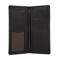 Conkca London - Oxford black 'Hamilton' vintage leather wallet in gift box