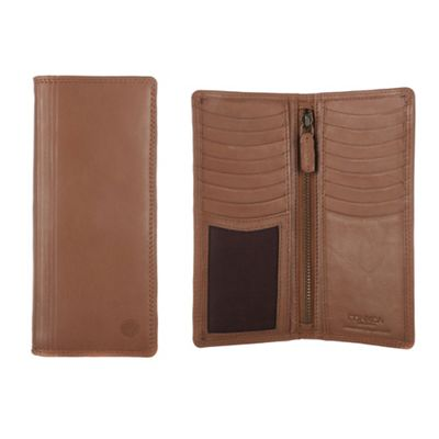 Conkca London Chestnut ´Hamilton´ veg-tanned leather breast wallet - . -