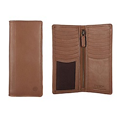 Conkca London - Chestnut 'Hamilton' veg-tanned leather breast wallet