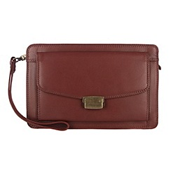Conkca London - Whiskey 'Garret' veg-tanned leather wrist bag