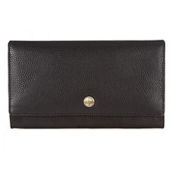 Pure Luxuries London - Black 'Wells' natural leather purse