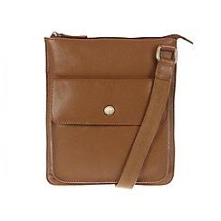 Pure Luxuries London - Oak 'Weybridge' natural leather cross body bag