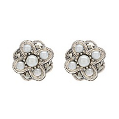 Pure Luxuries London - Gift packaged freshwater pearl and marcasite stud earrings