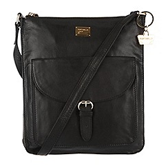 Portobello W11 - Black 'Bea' leather cross-body bag