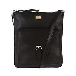 Portobello W11 - Black 'Bea' slim leather bag