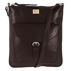 Portobello W11 - Brown 'Bea' slim leather bag