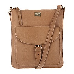 Portobello W11 - Tan 'Bea' leather small cross-body bag