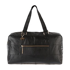 Portobello W11 - Black 'Life' soft leather holdall