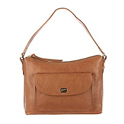 Portobello W11 - Dark tan 'Millie' leather shoulder bag
