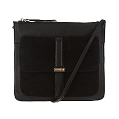 Portobello W11 - Black 'Carmen' leather and suede bag